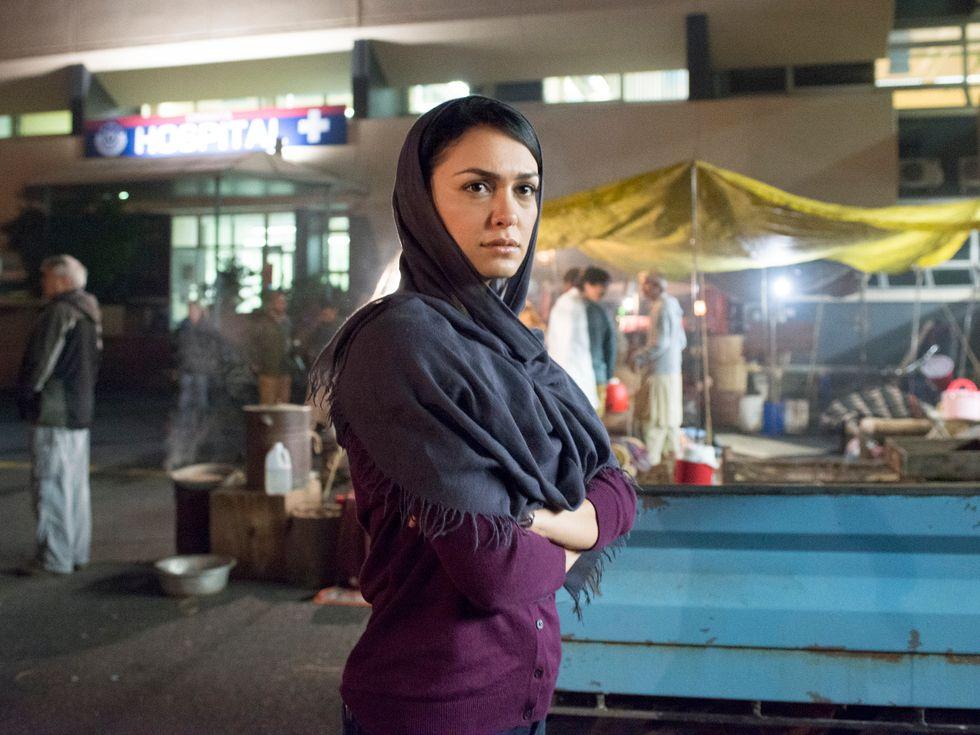 Nazanin Boniadi as Muslim CIA agent in TV show Homeland.