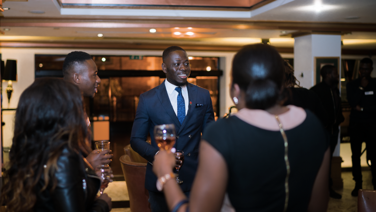 Black professionals networking at BYP event