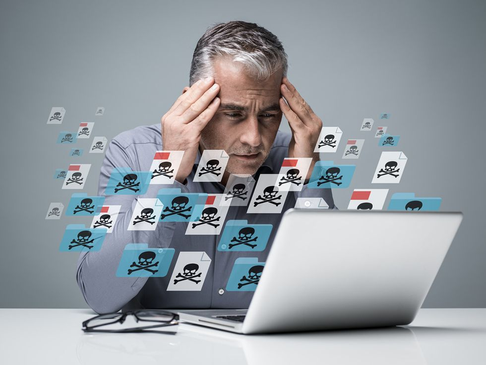 Man has malware on his laptop
