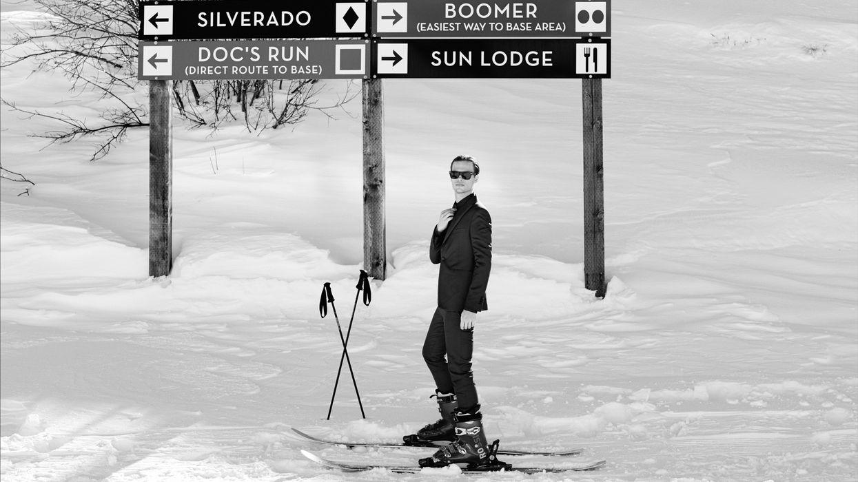 Matthew Gray Gubler on the ski slope.