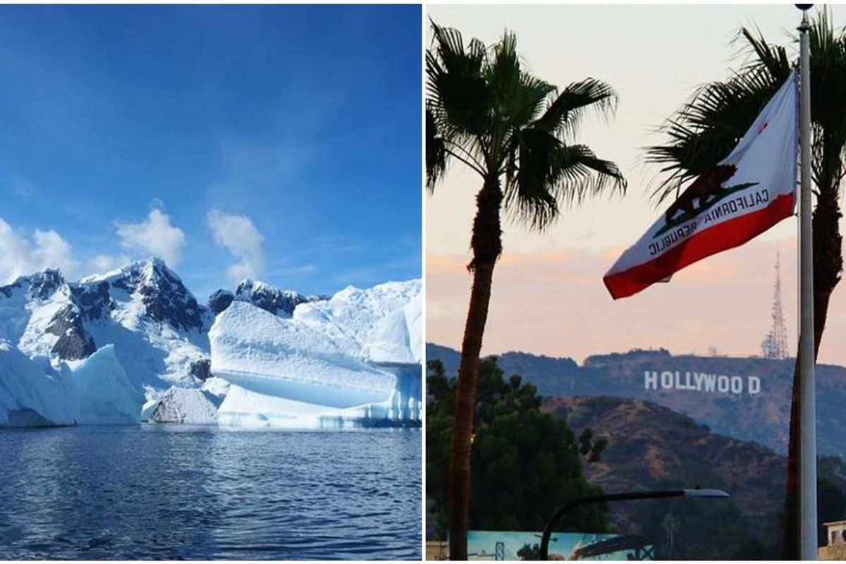 Antarctica and Los Angeles were pretty much the same temperatures today. That's not good news.
