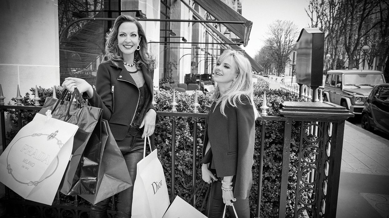 Allison Janney and Anna Faris shopping in Paris.