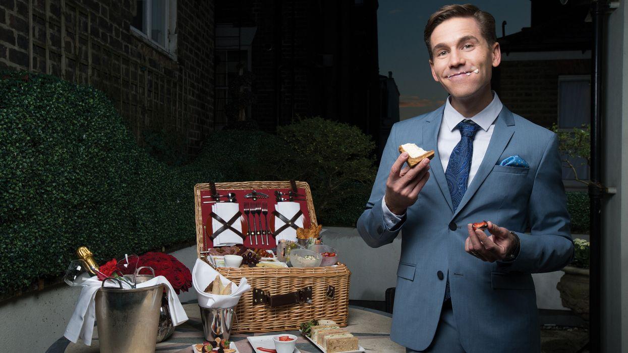 Brian Dietzen with a romantic picnic spread.