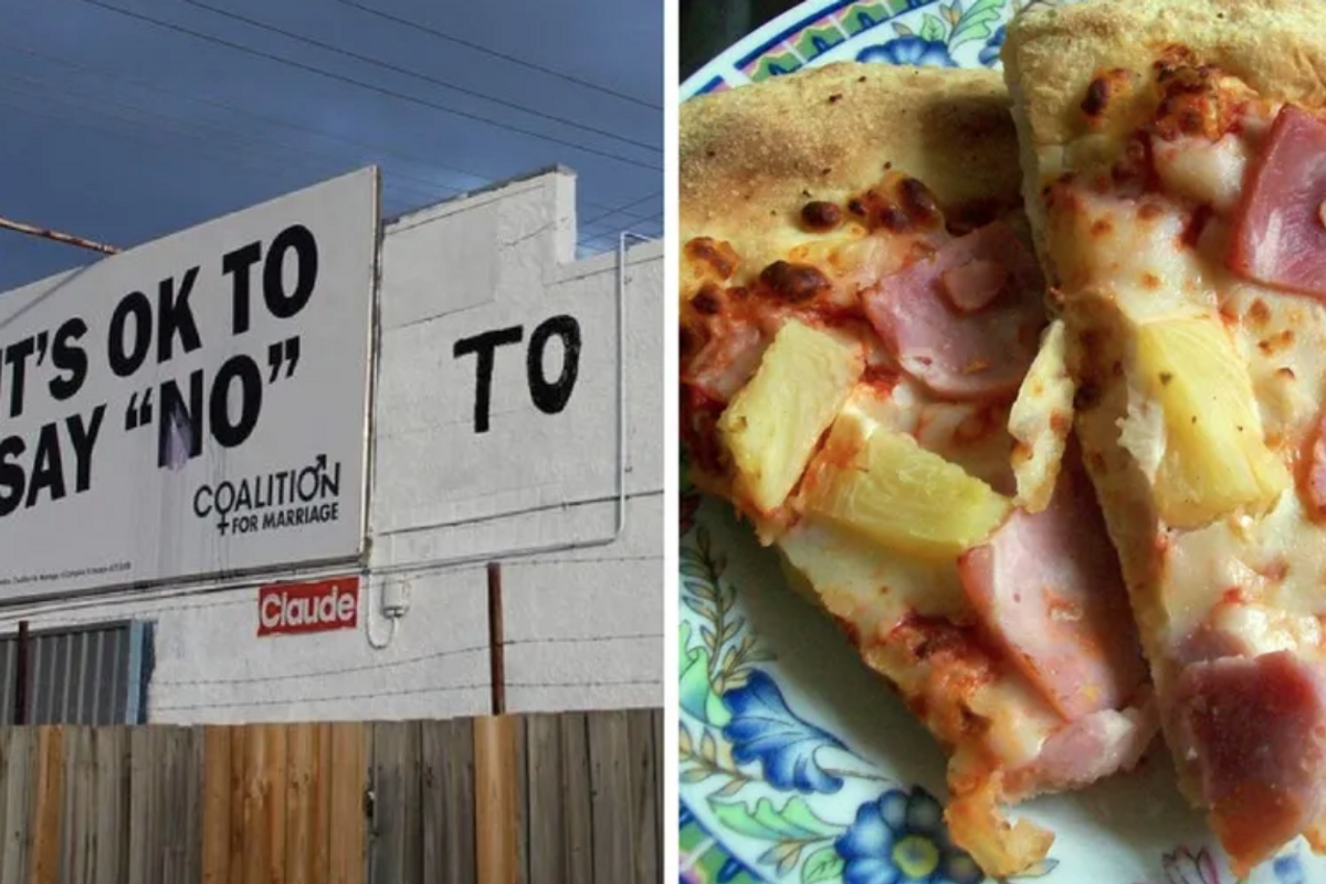A homophobic ad was placed next to a pizza shop. They messed with the wrong place.