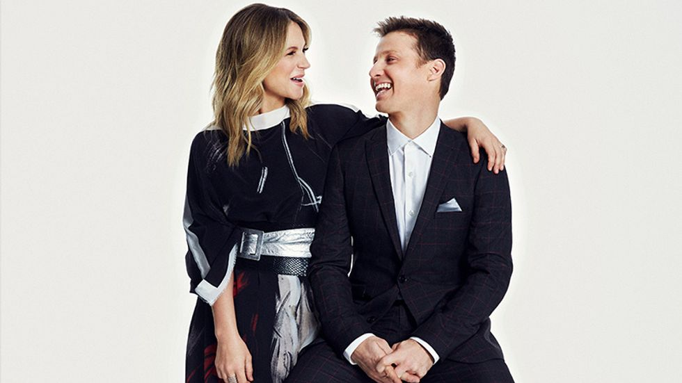 Vanessa Ray and Will Estes enjoying a friendly laugh