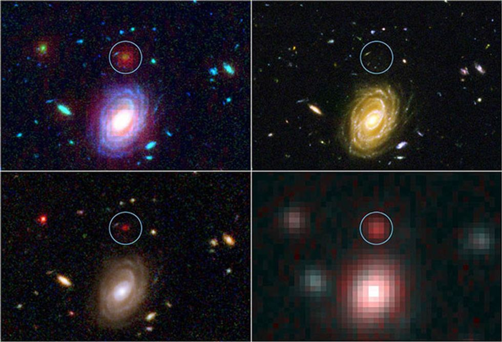 Big mature galaxies as seen by Spitzer in an early universe.