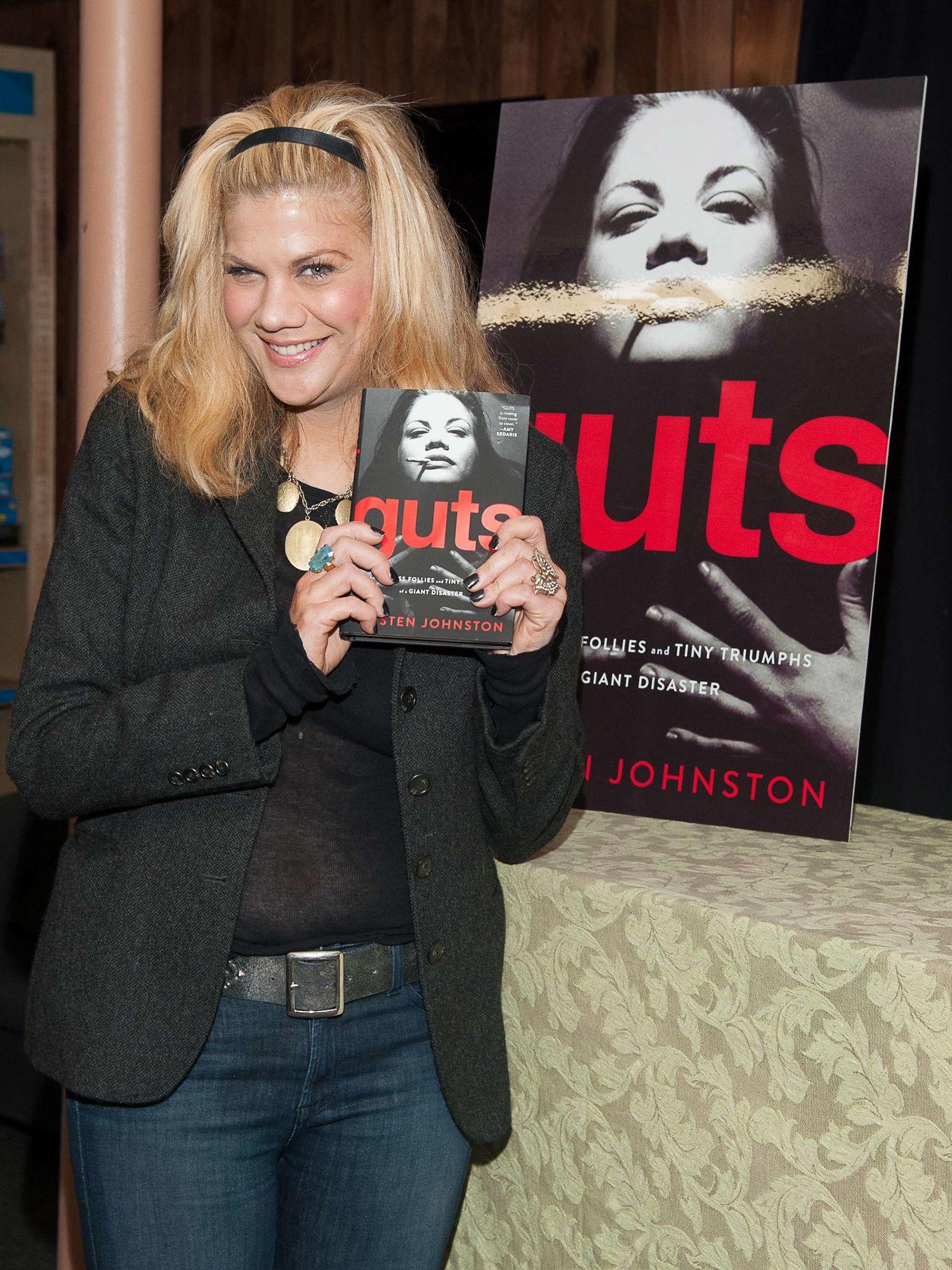 Actress Kristen Johnston promoting her memoir.