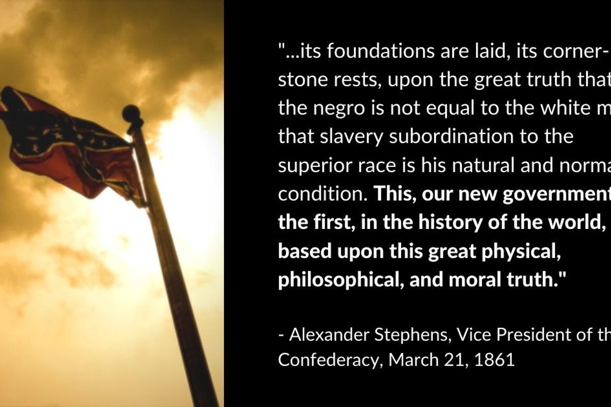 Still think the Civil War wasn't fought over slavery? The Confederate states would disagree.