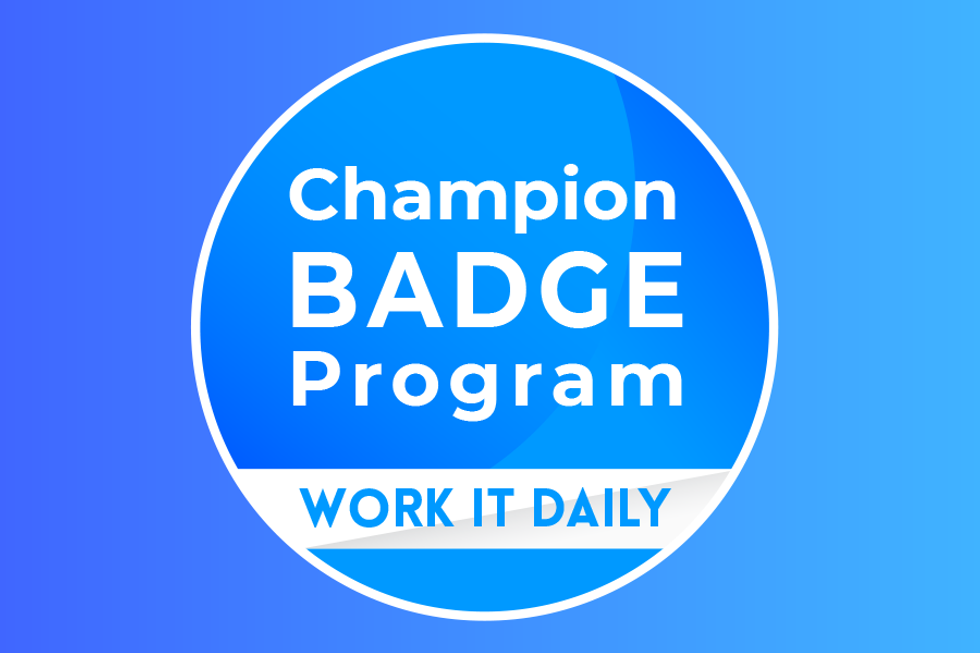 Is your company's leader worthy of a Leadership Champion Badge.