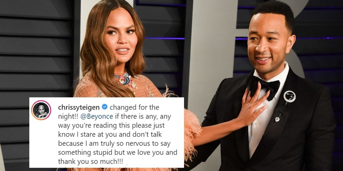 Chrissy Teigen's Beyoncé Crush Is so Wholesome and Humanizing