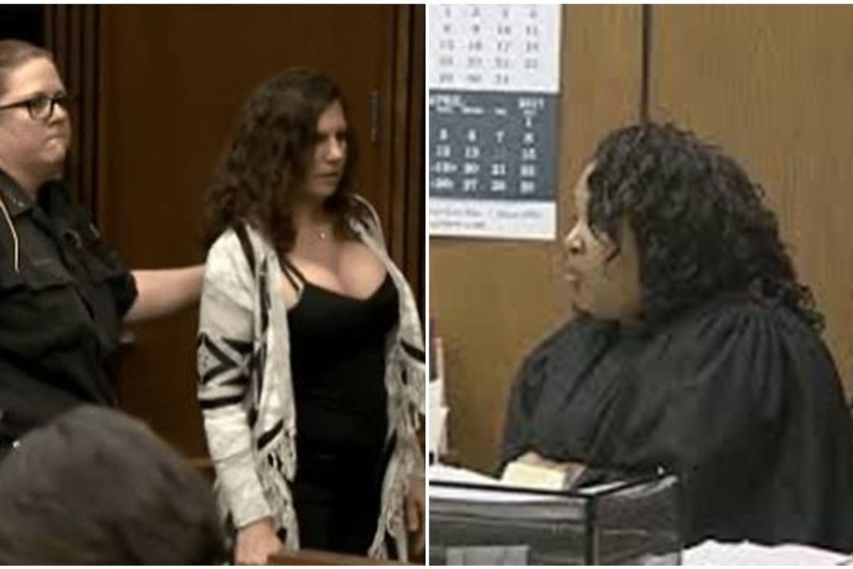 No-nonsense judge throws a drunk driver's mom in jail for laughing at the victim's family