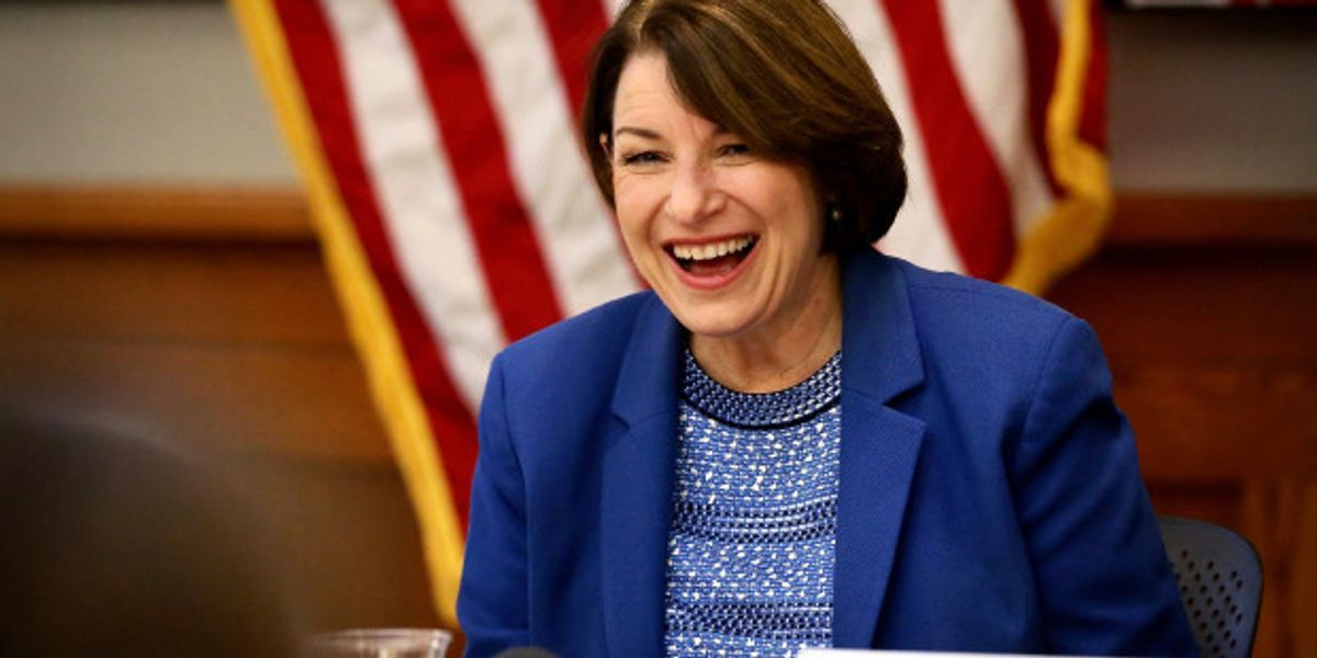 Amy Klobuchar's Entire Subreddit Is an Ironic Joke–and So Is She