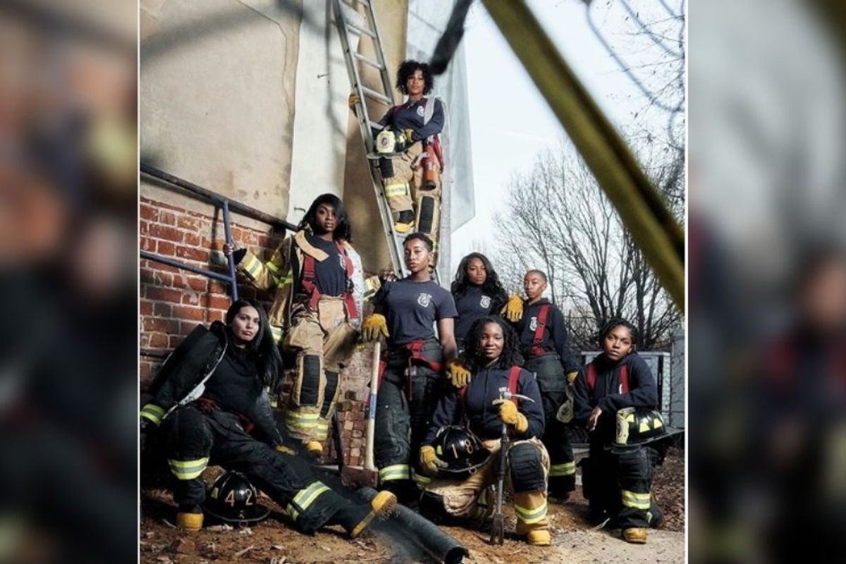 Maryland county turns firefighter stereotype on its head—and the photo itself is pure fire