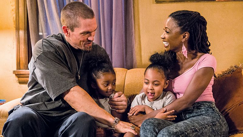 \u200bSteve Howey and co-star TV wife Shanola Hampton.