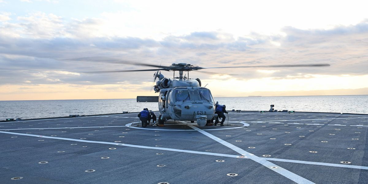Aircrew in stable condition after U.S. Navy helicopter goes down in Philippine Sea