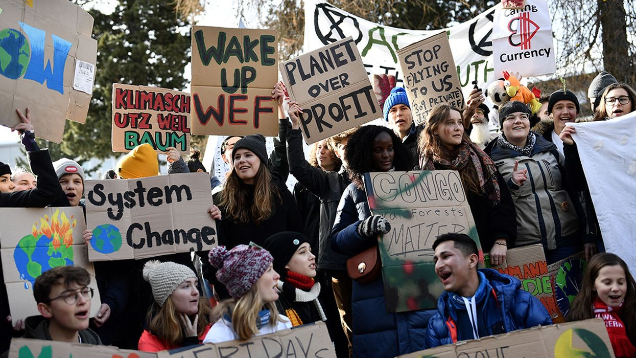 'We Have So Much More to Do': Youth Climate Activists Declare as Global Elite Close Out Davos Forum