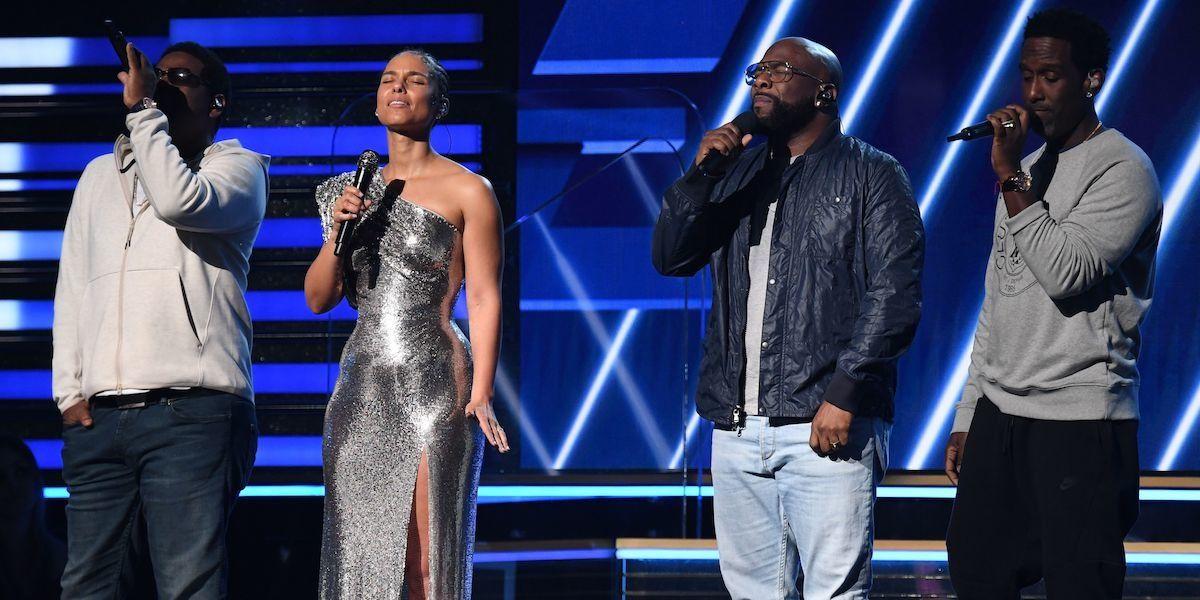 Alicia Keys And Boyz II Men Open Grammys With Kobe Bryant Tribute