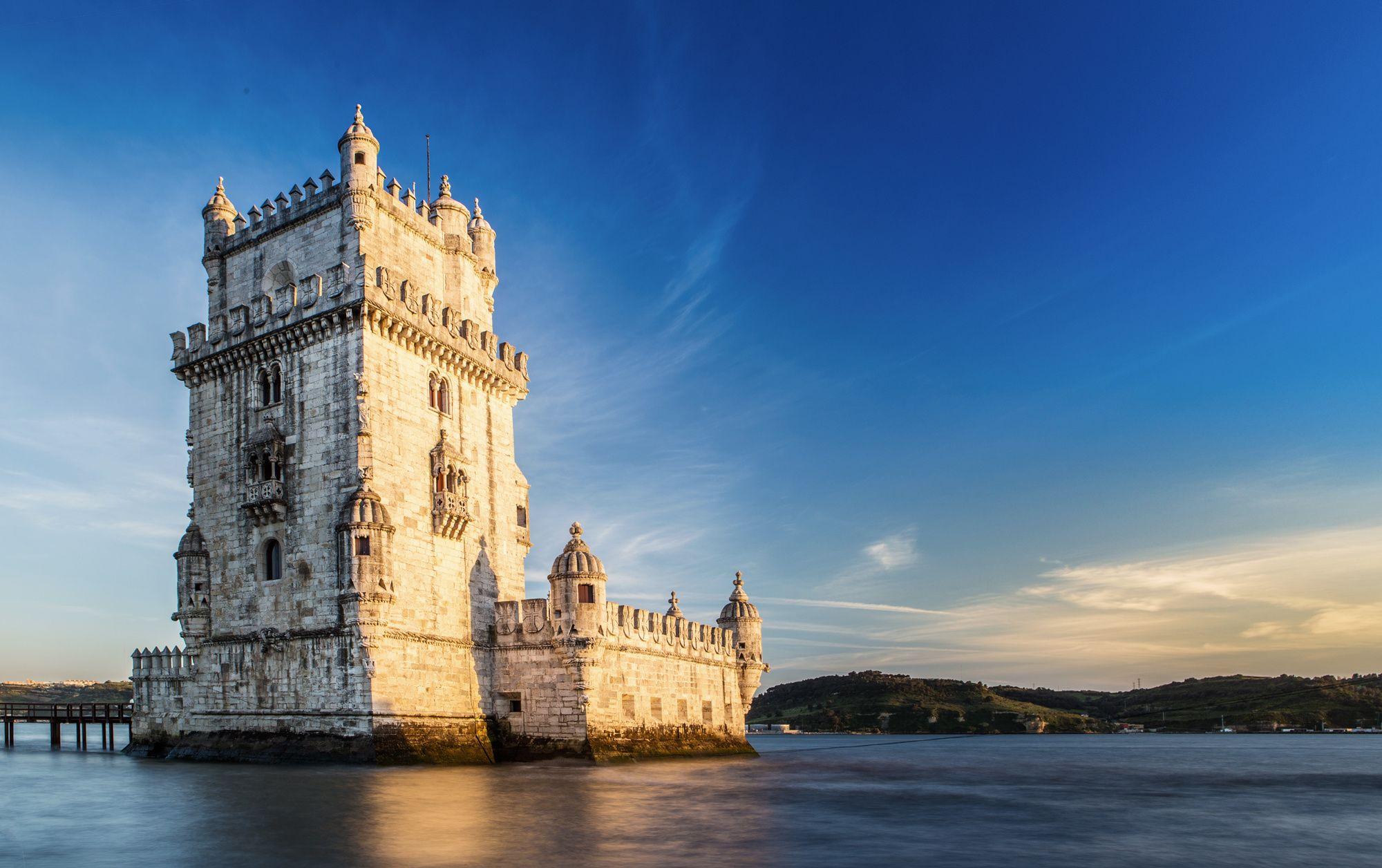 Torre de Belem fortress in Lisbon.