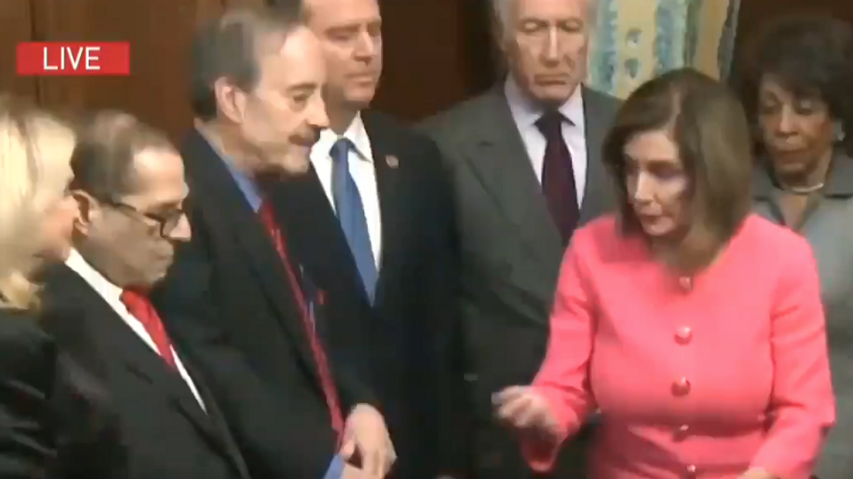 'A poignant moment': Trump lawyer hits Nancy Pelosi for impeachment signing ceremony from Senate floor during ...
