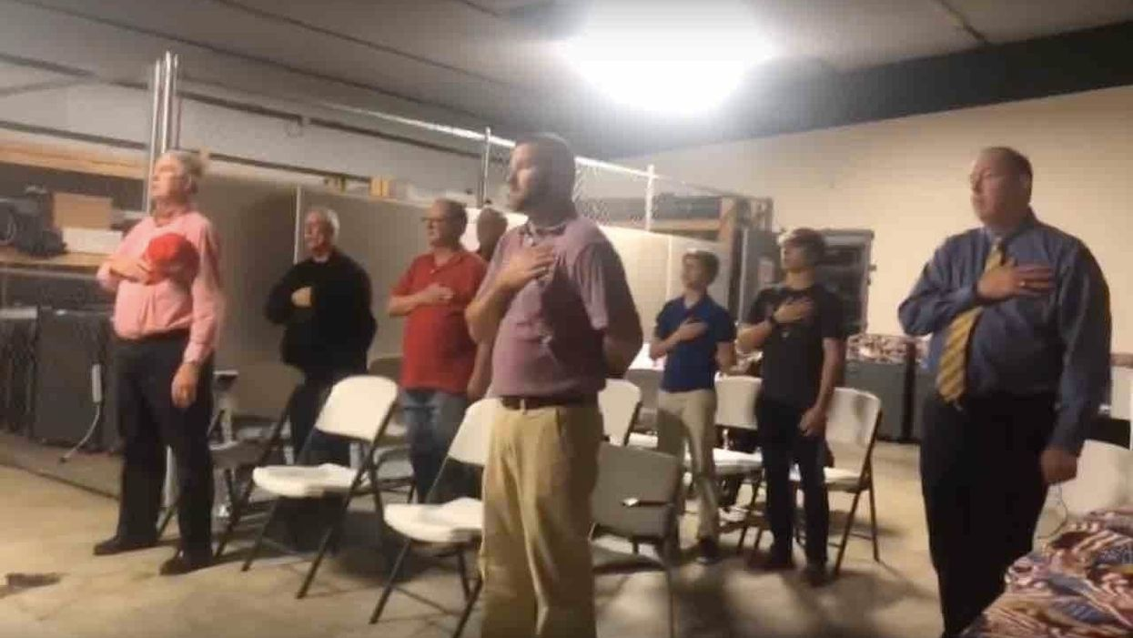 Democrat-majority election board threatens arrests if Pledge of Allegiance is recited at meetings after ...