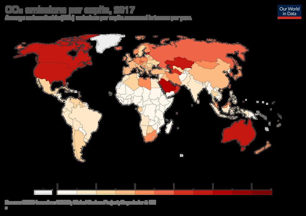 CO2 Per Capita Map
