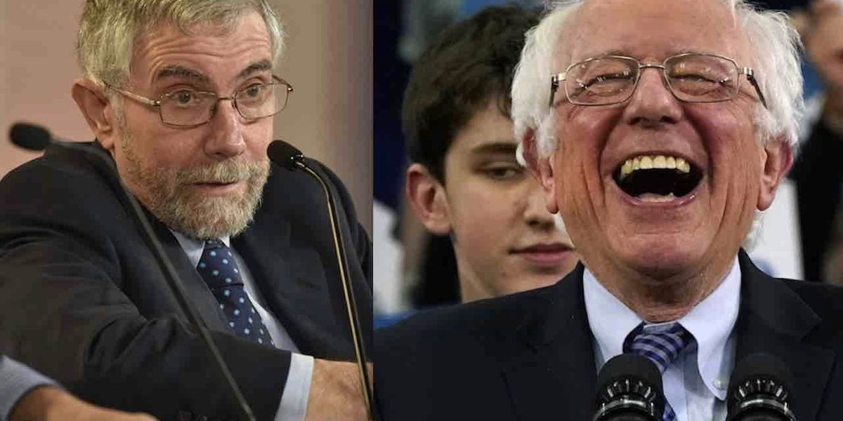 Left-wing NY Times columnist Paul Krugman declares that 'Bernie Sanders Isn't a Socialist.' And we laughed, and laughed, and laughed.