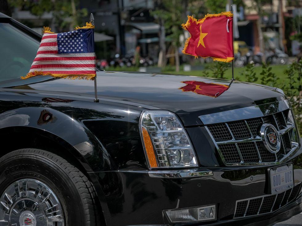 Trump Vietnam 2017 Cadillac limo