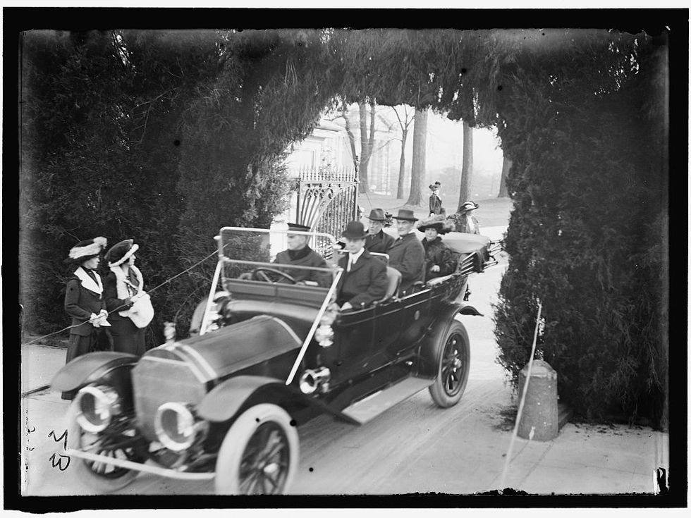 Woodrow Wilson car Edith Library of Congress