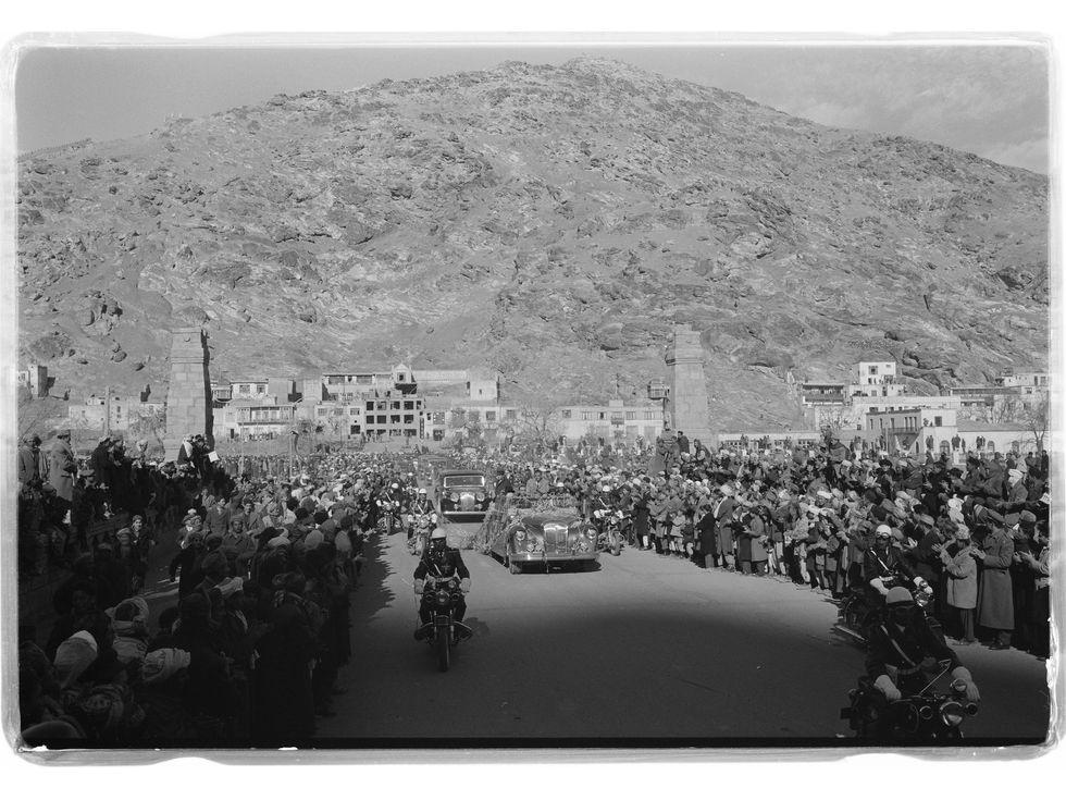 Motorcade for President Eisenhower's visit to Kabul, Afghanistan 1959