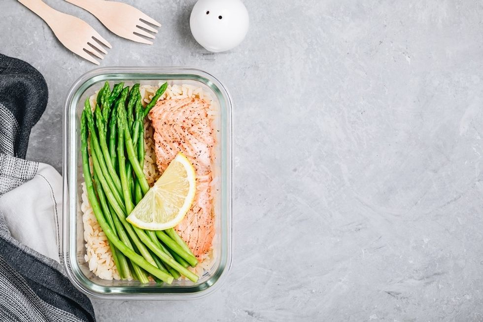 Salmon is a great work lunch full of omega-3 fatty acids