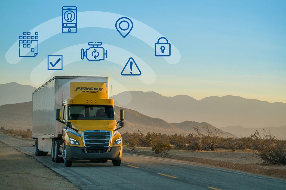 penske truck connected fleet icons