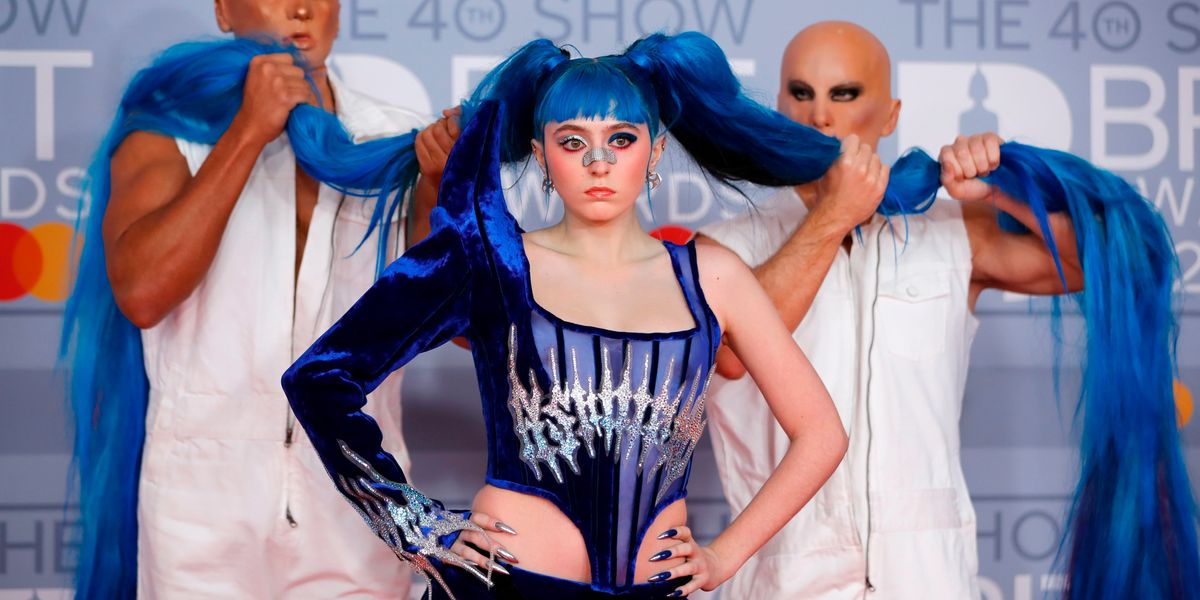 Ashnikko's Bright Blue Pigtails Required Their Own Escorts At The 2020 BRIT Awards
