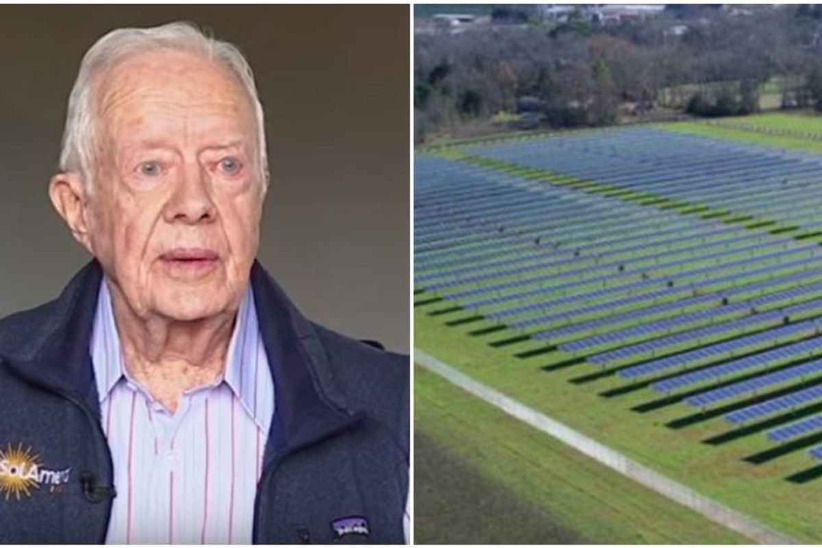 Jimmy Carter built a solar farm in his hometown and it now powers half of the entire city