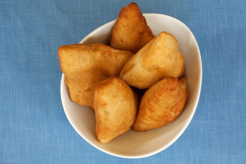 Mandazi are like an African donut or fritter