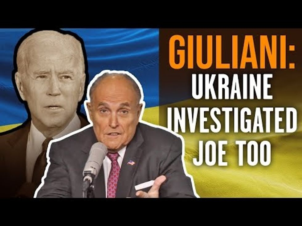 image for GIULIANI: The Biden's crimes are going unpunished because of a 'corrupt ...