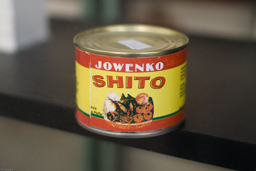 The spicy Ghanaian hot sauce shito, Jowenko brand.