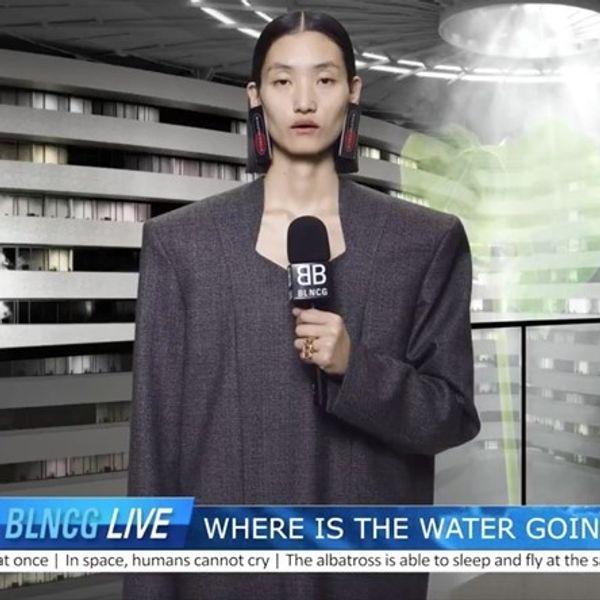 Watch Balenciaga's Dystopian News Broadcast