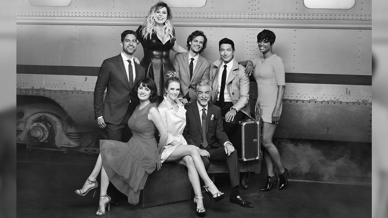 Black and white photo of the cast of Criminal Minds.