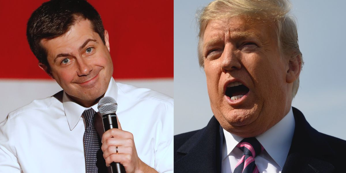 Pete Buttigieg takes a swipe at President Trump and the Stormy Daniels affair in defense of his gay marriage
