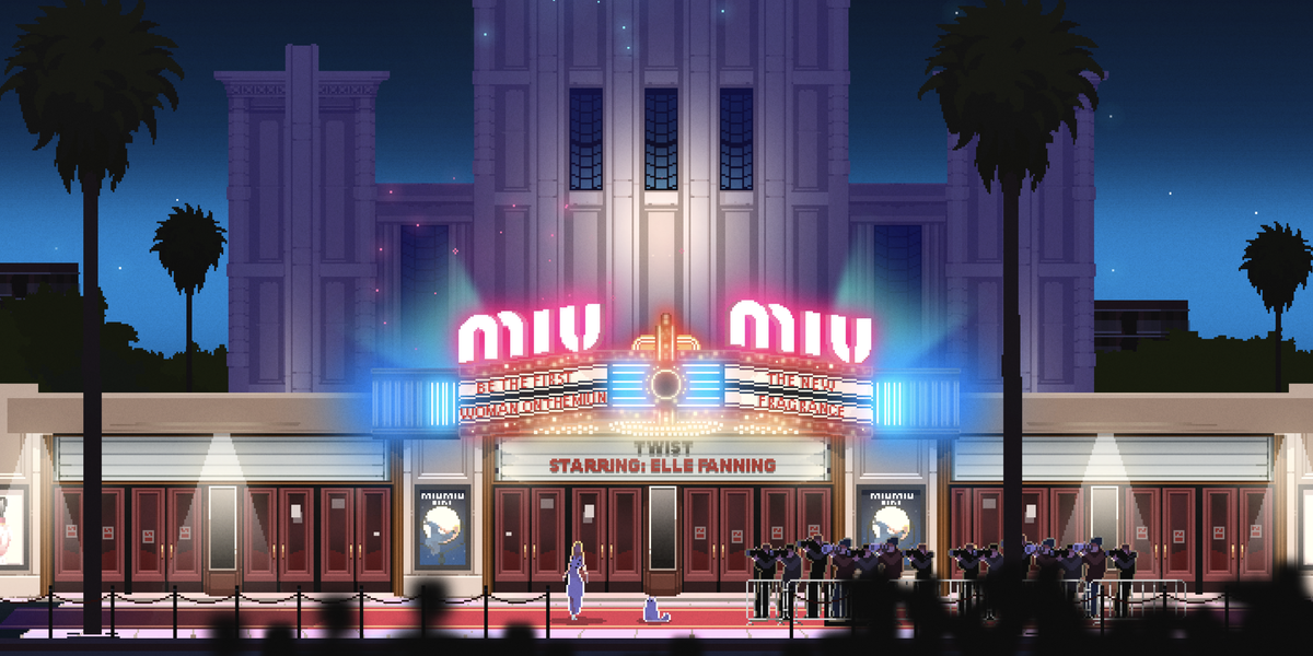 Walk the Red Carpet With Elle Fanning in Miu Miu's New Video Game