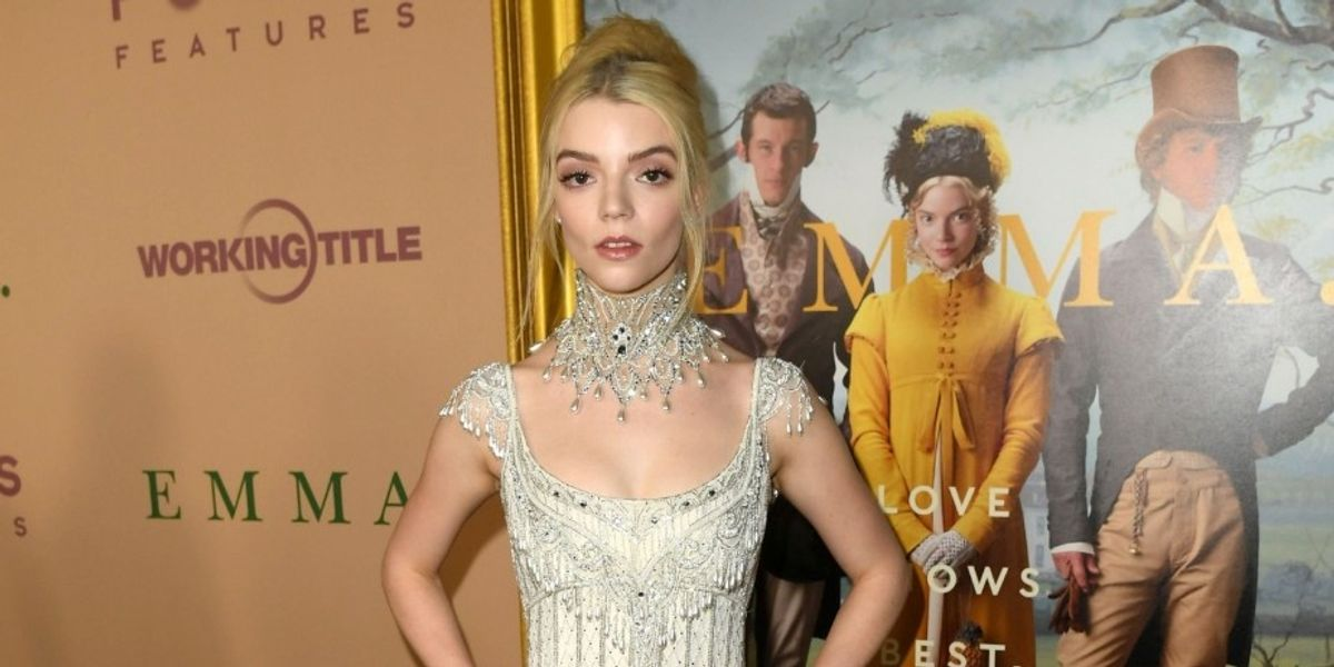 Anya Taylor-Joy Wore A Vintage Wedding Dress To The 'Emma' Premiere
