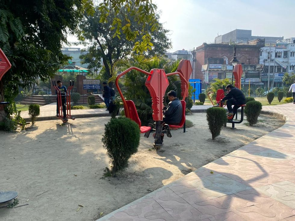 Open air gym in Lucknow