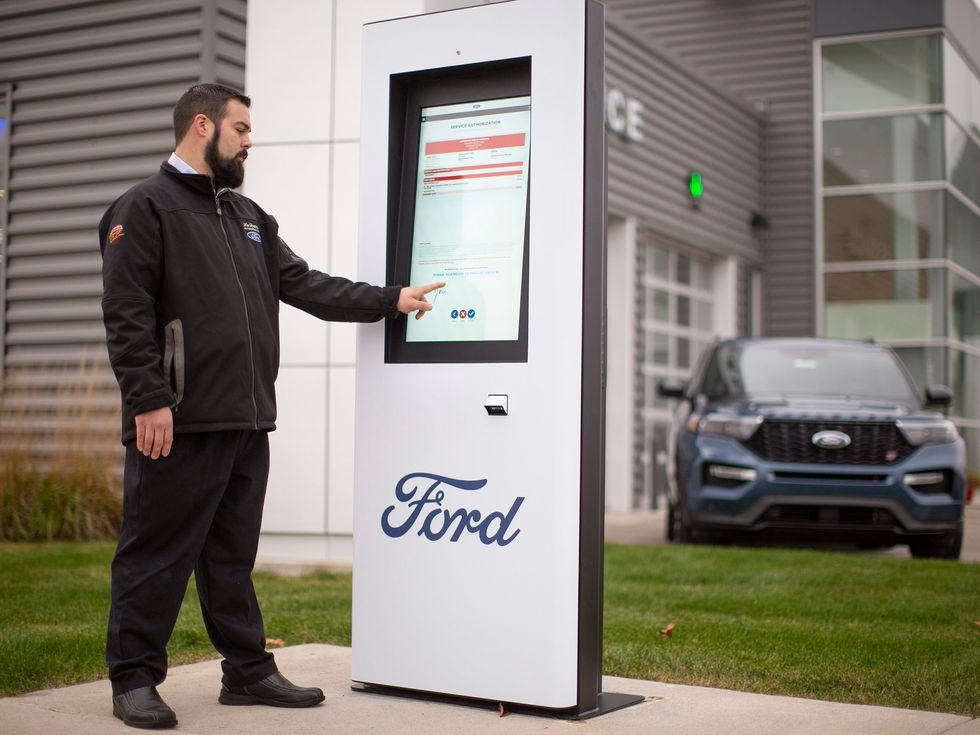 Ford outdoor kiosk check in