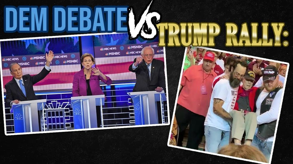 image for WHICH IS BETTER?! NBC News Democratic debate MADNESS, or carrying a vete...