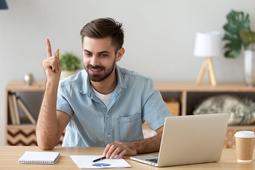Man uses his creative imagination to achieve career success