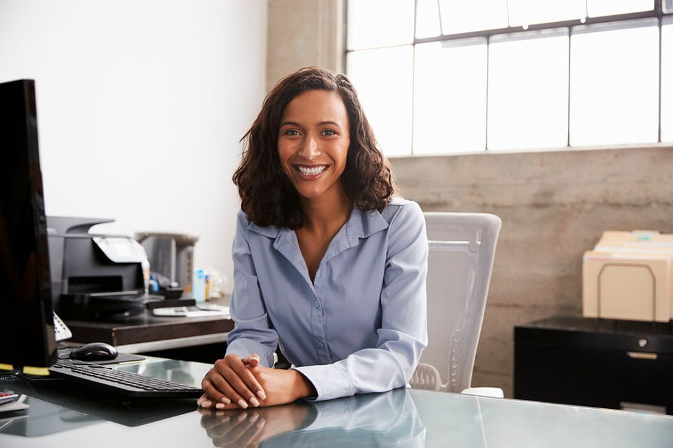 Professional woman achieves career success after being persistent