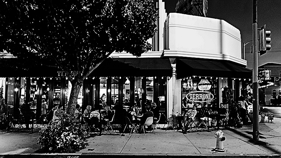 An old photo of Terroni, a pizza restaurant in Los Angeles.