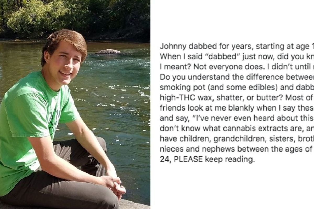 A mom whose 19-yr-old died by suicide has a vital message for parents about marijuana today