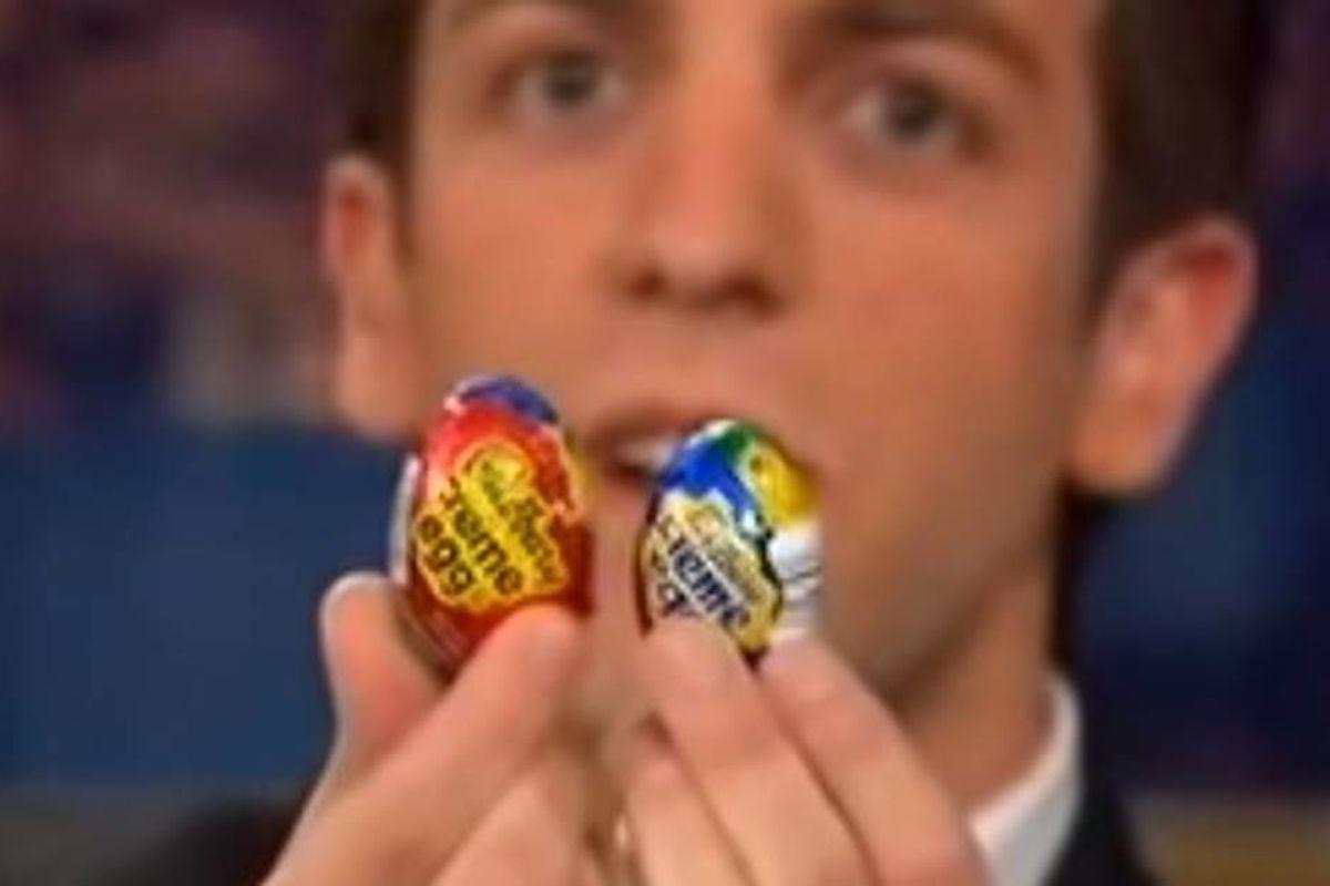 BJ Novak provided proof that Cadbury eggs were shrinking in size back in 2007