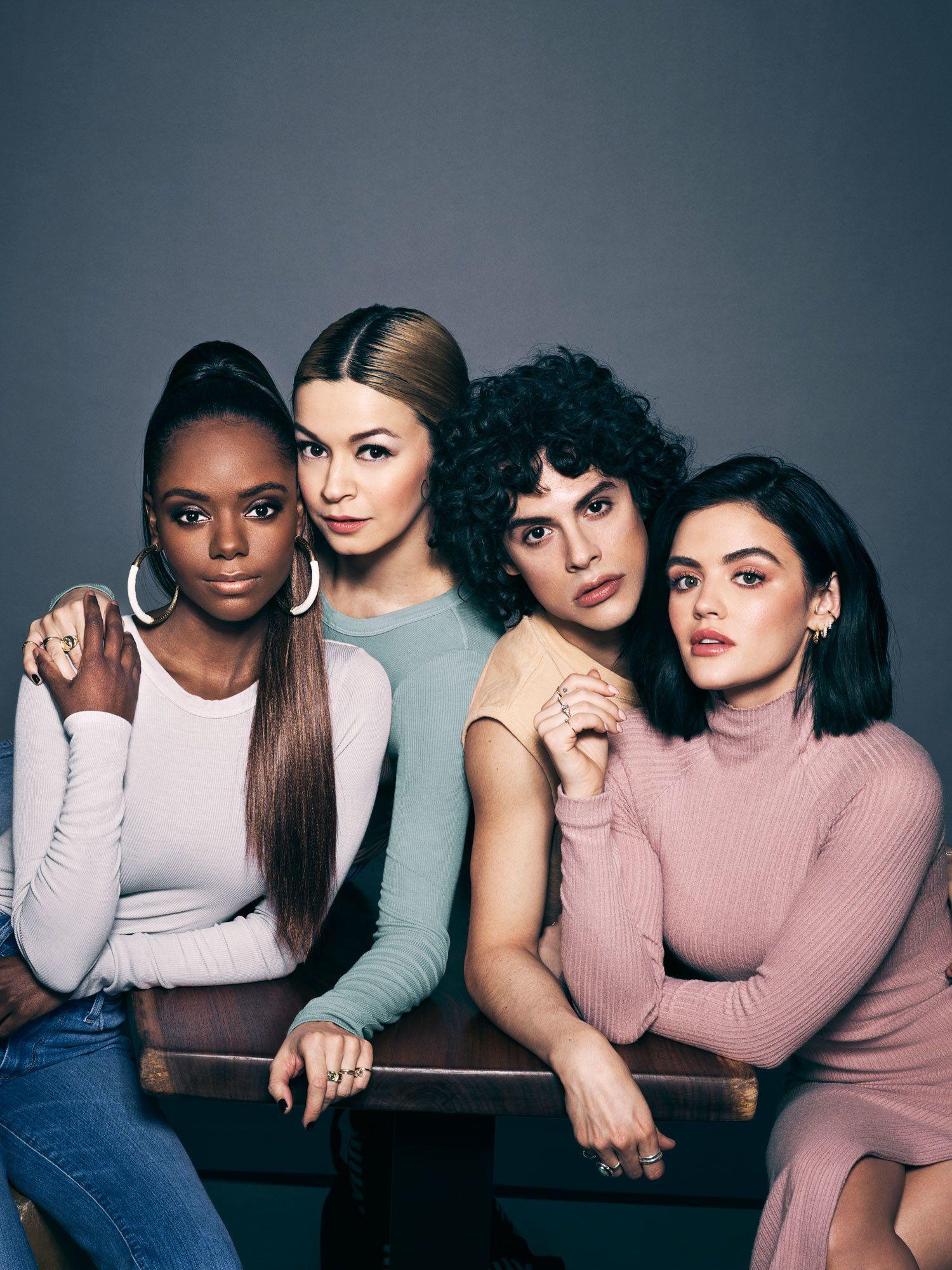 The close-knit cast of TV show Katy Keene.